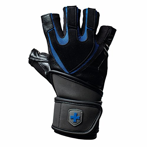 Harbinger Pro リストラップ トレーニンググローブ Tech Gel-Padded Leather Palm (XL(21.6~24cm)) [並行輸入品]
