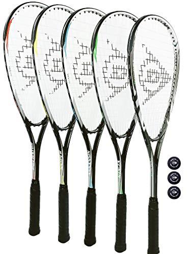 DUNLOP X-Lite Assassin - Raqueta de squash + cubierta protectora completa y 3 pelotas de squash
