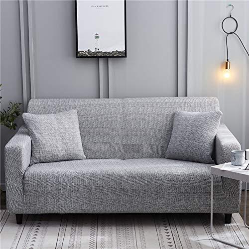 WXQY Wohnzimmer geometrische elastische Sofa Schutzhülle Kombination fest gewickelt rutschfeste elastische Sofa Schutzhülle A14 4-Sitzer
