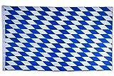 SCAMODA Bundes- und Länderflagge aus wetterfestem Material mit Metallösen (Bayern Raute) 150x90cm