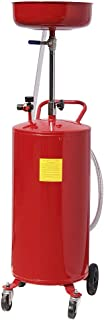 Tril Gear 20 Gallon Portable Waste Oil Drain Tank Air Operated Drainer Oil Change Red
