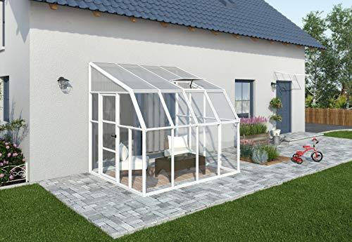 """RION Kunststoff Anlehngewächshaus, Tomatenhaus, Wintergarten Sun Room 44\"""" // 260 x 258 x 266 cm // inkl. Dachfenster"""
