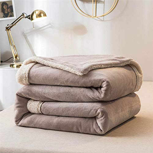 Amosiwallart Mantas para Sofa, Mantas para Cama de Franela Reversible, Mantas Ligeras de 100% Microfibra - Fácil De Limpiar - Extra Suave Cálido -Gris_2x2,3 Metros