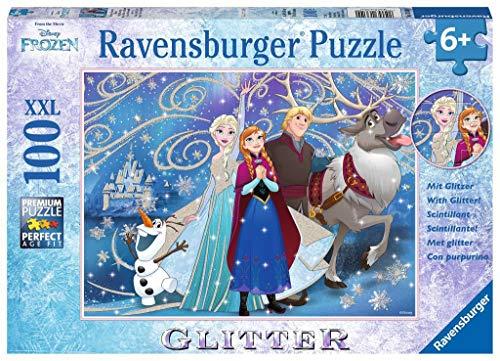 Ravensburger 13610 - Puzzle Scintillante, Soggetto: Frozen, 100 pz.