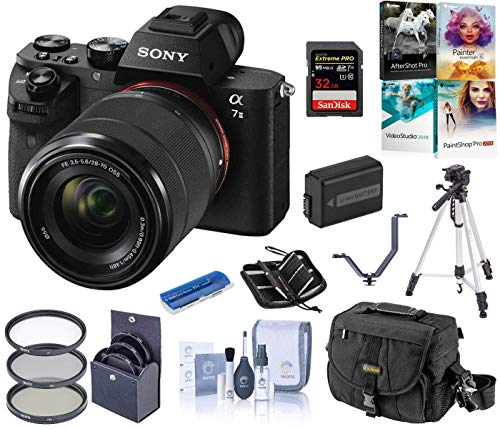Sony Alpha a7II Full-Frame Mirrorless Digital Camera with 28-70mm Lens Bundle with Camera Bag, Battery, Filter Kit,...