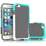 iPhone 6S Case, iPhone 6 Sturdy Case, Tekcoo [TLord Series] [Grey/Turquoise] iPhone 6 / 6S (4.7 INCH) Cases Shock Absorbing Hybrid Best Impact Defender Rugged Slim Protective Cute Bumper Cover Shel