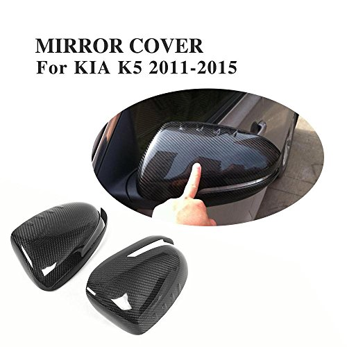 JC SPORTLINE Carbon Fiber 2PCS Side Mirror Cover Caps fits Kia Optima K5 2011-2015