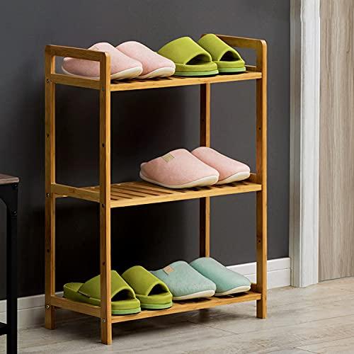 Tallera De Zapatos De Madera, 3 Niveles De Almacenamiento De Zapatos, Estante De Baño, Estante De Baño, Equipo De Almacenamiento De Zapatos Portátiles De Almacenamiento De Za(Size:50cm,Color:3 layers)