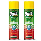 2x AntiZanzare Insetticida Spray, Repellente Zanzara Tigre e Comune| Effetto 8 ore Interno Esterno| Soluzione Completa (2x Quick Zanzara Mayer)