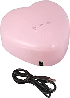 Nail Art Tools, ultraportátil, Doble Fuente de luz, lámpara de uñas UVLED de 18 W en Forma de corazón, para Gel de extensión de Gel UV(Pink)