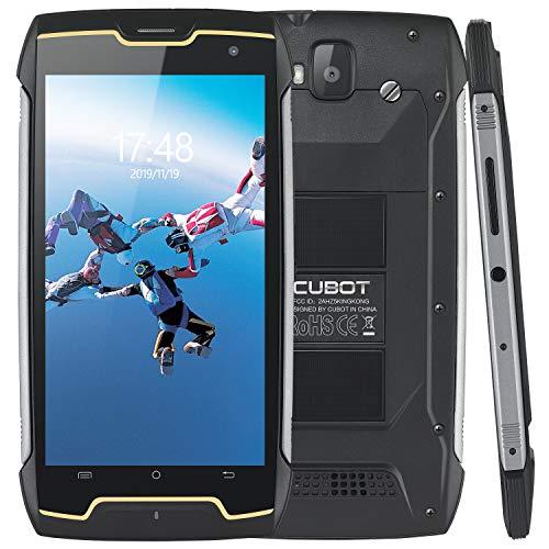 CUBOT King Kong, Unlocked Smart Phone, 3G WCDMA Dual SIM Rugged Cellphone, 4400mAh Big Battery, Android 7.0, IP68 Waterproof, 5 Inch HD IPS Display, 2GB+16GB, 8MP+13MP Camera, Quad-Core, GPS, Compass