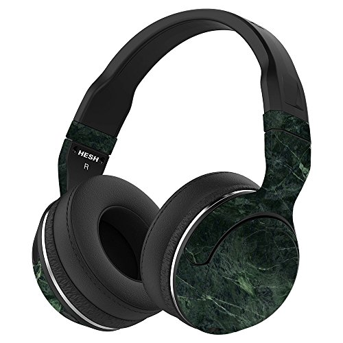 MightySkins Skin Compatible with Skullcandy Hesh 2 Wireless Headphones - Green Marble | Protective, Durable, and Unique Vinyl wrap Cover | Easy to Apply, Remove, and Change Styles | Made in The USA