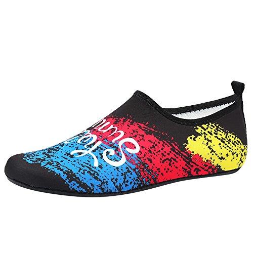 FRAUIT Zwemschoenen voor heren en dames, sneldrogend, surf yoga, oefening, aquaschoenen, blote voeten, badschoenen voor watersport, strand, zwembad, surfen en yoga