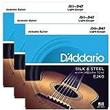 D'Addario EJ40 Silk & Steel Folk 11-47 3 Sets