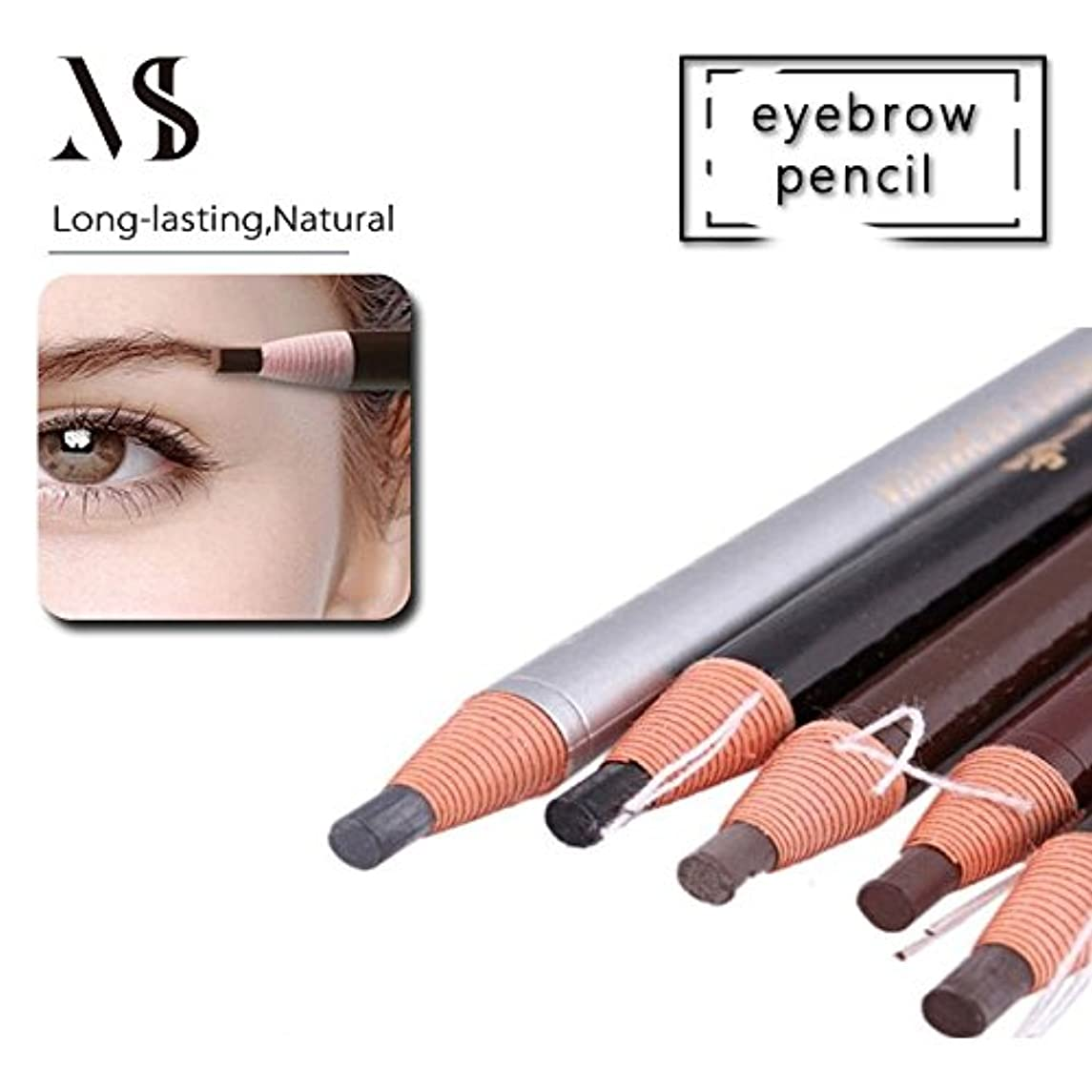10PCS 5Colors Waterproof Stereotypes Eyebrow Pencil Peel-off Pencil For Women Makeup Microblading Cosmetics Tool For Permanent Makeup