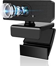 Webcam with Microphone, Admitrack 1080P HD Webcam Streaming Computer Web Camera with 110° Wide View Angle - USB Computer C...