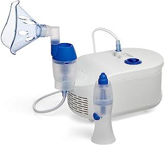 OMRON C102 - Nebulizador Compresor con Aspirador Nasal para  Niños y Adultos: alivia de manera eficaz la obstrucción nasal y los síntomas de alergia en niños y adultos