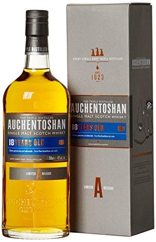 Auchentoshan 18 Jahre Single Malt Scotch Whisky, mit Geschenkverpackung, sanftes und blumiges Aroma, 43% Vol, 1 x 0,7l