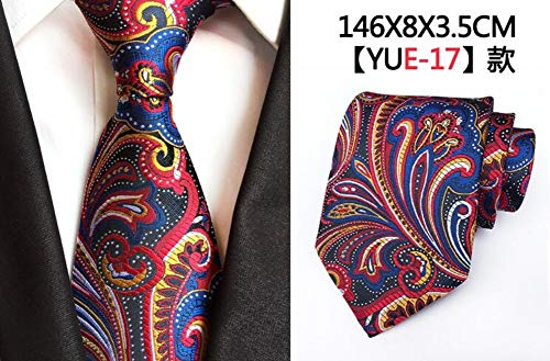 FAHFO Krawatten Mens Krawatte Luxus Floral Krawatten 8Cm Krawatte Klassische Business Hochzeit Casual Krawatte, 17