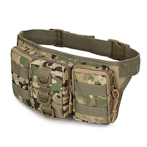 Bolsa de Dinero Hombres Militares Impermeables Bolsa de Cintura táctica Deportes al Aire Libre Senderismo Caza Montar Ejército Bolsas Bolsa de cinturón de Escalada (Color : Camouflage 3)