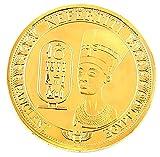 ARUNDEL SERVICES EU Egipcio Moneda de réplica Moneda Conmemorativa Chapado en Oro Pirámide Egipto