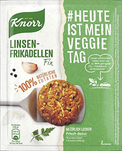 Knorr Natürlich Lecker! Fix für vegetarische Linsen-Frikadellen mit 100 % natürlichen Zutaten, 1er Pack (1x 42 g)