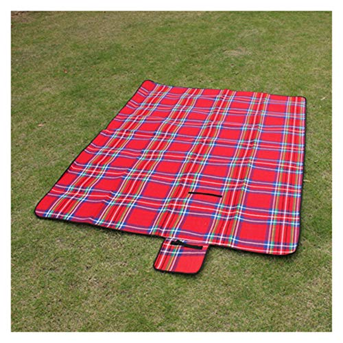 Fuxwlgs Manta de Picnic Plegable Camping Mat de campaña Picnic Picnic LightWeig Impermeable Sleeping Camping Pad Mat Matchet a Prueba de Humedad (Color : Red Camping Mat, Size : 200x150cm)
