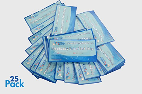 ClinicalGuard HCG Pregnancy Test Strips (Individually-Sealed, Pack of 25)