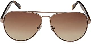 Fossil Aviator Sunglasses for Unisex - Brown Lens, FOS 2061/S-4IN60HA