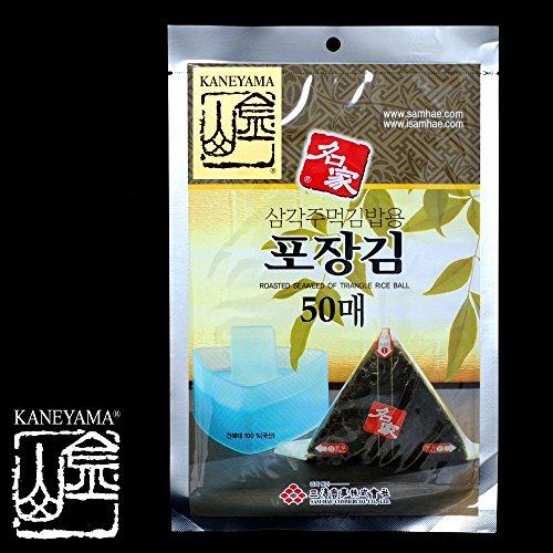 Kaneyama Seaweed Wrappers for Triangular 'Onigiri' Rice Ball (50 Sheets Refill)
