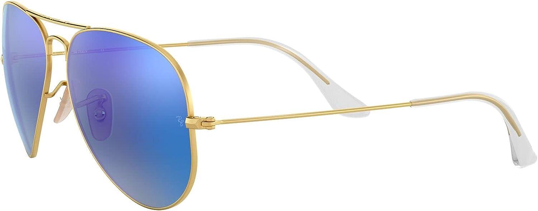 Ray-Ban RB3025 Classic Mirrored Aviator Sunglasses
