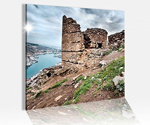 Acrylglasbild 50x50cm Ruinen Burg Schloss Irland Acrylbild Bilder Acrylglas Acrylglasbilder 14A4940, Acrylglas Größe3:50cmx50cm
