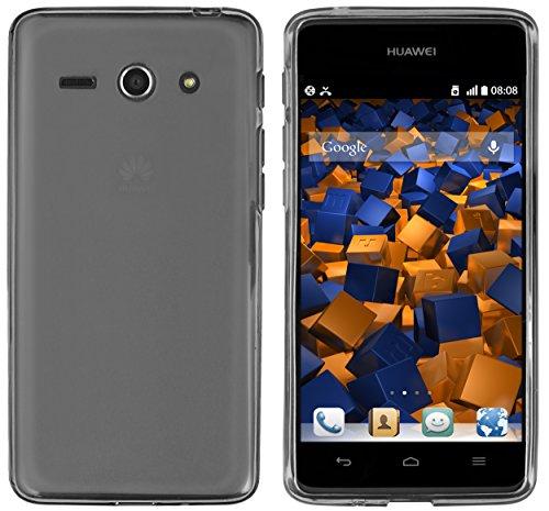 mumbi Hülle kompatibel mit Huawei Ascend Y530 Handy Case Handyhülle, transparent schwarz