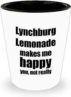 Lynchburg Lemonade Cocktail Shot Glass Lover Fan Funny Gift Idea For Friend Alcohol Mixed Drink Liquor 1.5 Oz Shotglass