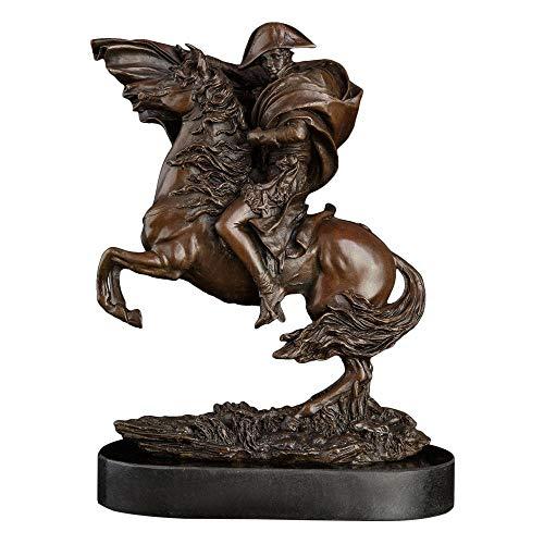 WPXBF Dekoartikel Tierstatuen Gartenfiguren Reitsport Bronzestatue Berühmte Kaiser Skulptur Statue Sammlung