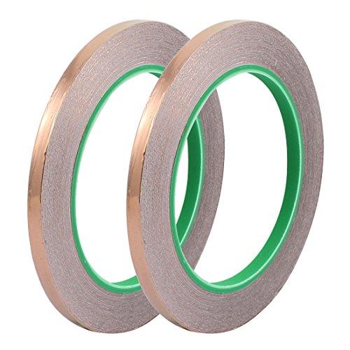 Aexit 2 Stücke 6mm Breite 20 Mt Länge DIY Kleber Doppelseitig Leitfähiges Kupfer Folienband (86bdc5fac6f6b117e908d387b18d4e2e)