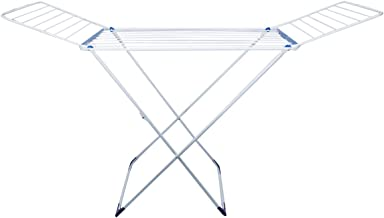 Imperial Metal Clothes Drying Rack, White/blue - 180 X 55 X 100cm