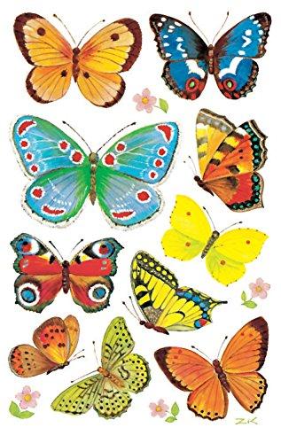 AVERY Zweckform 4462 Deko Sticker Schmetterlinge 30 Aufkleber