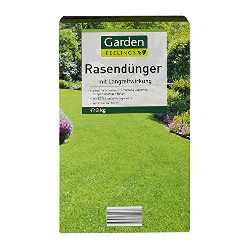 Garden Feelings Park Rasendünger für ca. 390qm Langzeitwirkung Rasen Dünger 9 Kg (Lieferung 3 x 3 kg) für ca. 390qm