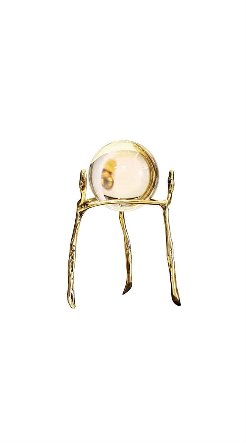 TYZP Crystal Ball Decoration Brass Bracket Creative Home Desk Study Tv Cabinet Porch Feng Shui Small Ornaments Craft Decorations (Size : S)