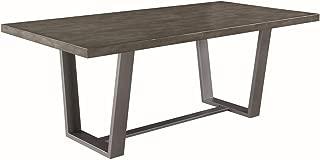 Scott Living Hutchinson Dining Table, Aged Concrete/Gunmetal