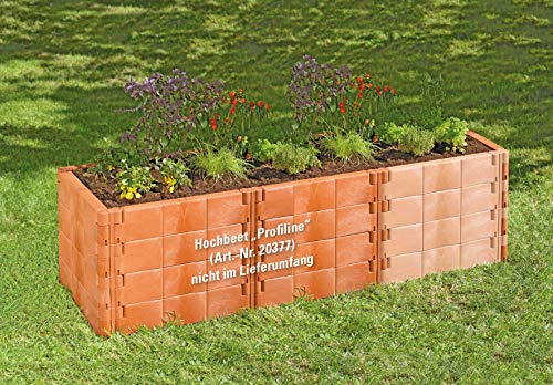 Juwel Erweiterung für Hochbeet Profiline terracotta (besteht aus 8 Bausteinen inkl. Stabilisierungs-Set, Bausteine wärmeisolierend, witterungs-/frostbeständig) 20579