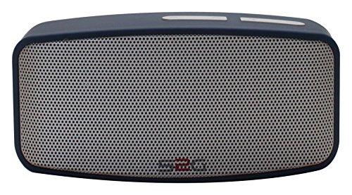 S2G AXESS von SOUND2GO - Bluetooth Lautsprecher mit Freisprecheinrichtung, Micro-SD Slot, USB-Player und FM-Radio - blau/silber