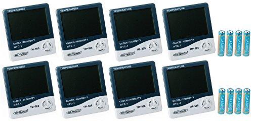 8x Digital Thermometer und Hygrometer Temperatur Luftfeuchtigkeit Uhrzeit Messgerät TM-608