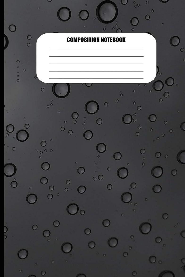 トラックペック拷問Composition Notebook: Water Droplets on Dark Gray Surface (100 Pages, College Ruled)