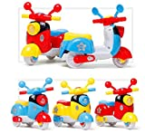 JohnMacc Kids Mini Friction Pull Back Die Cast Motorcycle Scooter Toy, Size: 10