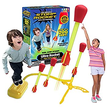 The Original Stomp Rocket Ultra Rocket Launcher 4 Rockets and Toy Air Rocket Launcher - Outdoor Rocket STEM Gift for Boys and Girls Ages 5 Years and Up - Great for Outdoor Play
