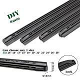 QUALITY BEMOST Auto Car All-Season Windshield Wiper Blades Refills Natural Rubber Strips (26'+16' Pair for front Windshield) for Hybrid Type of Wiper Blade