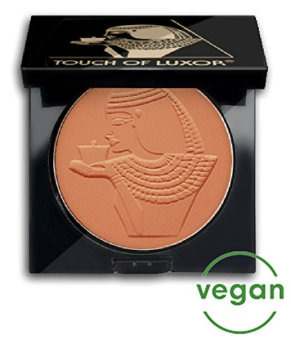 Cutifem Touch of Luxor Compact Puder No. 1 Light Bronze Terracotta Matt - Pflegendes, Veganes Make-Up Gesichtspuder - 11 g