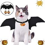 WELLXUNK Halloween Disfraz para Gatos Perros Murciélago Disfraz De Gato Ropa Gato Disfraz Perro Gato Perro Cool Pet Halloween Bat Wings Disfraz,para Halloween Holiday Theme Party